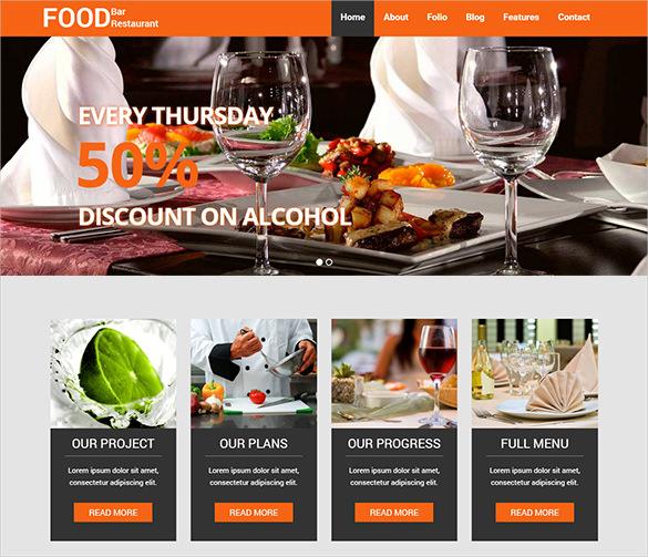 professional restaurant blog template