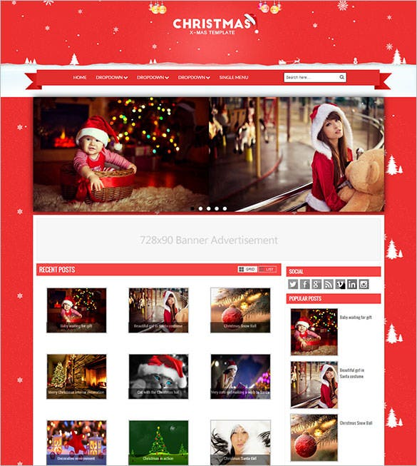 free download christmas blogger template