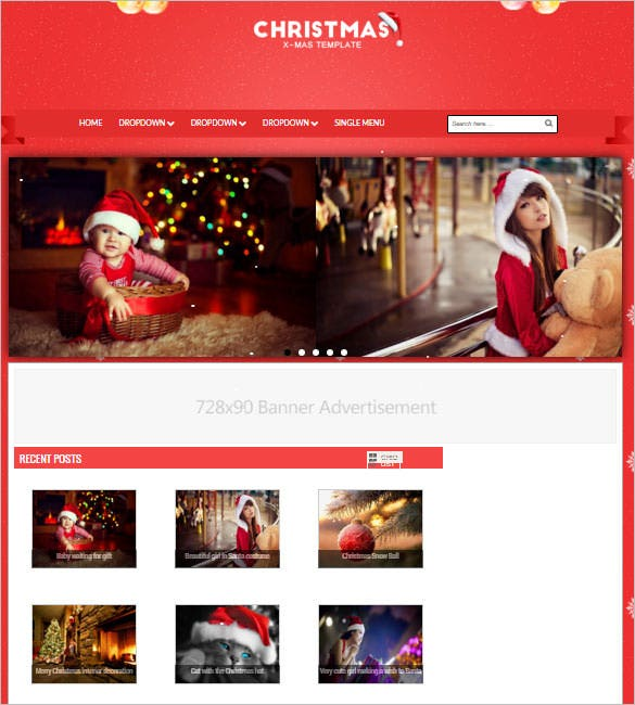 christmas responsive blogger template download