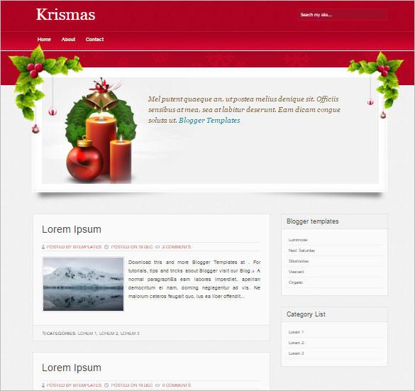 blogger template krismas template