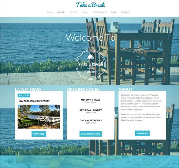 premium restaurant blog template