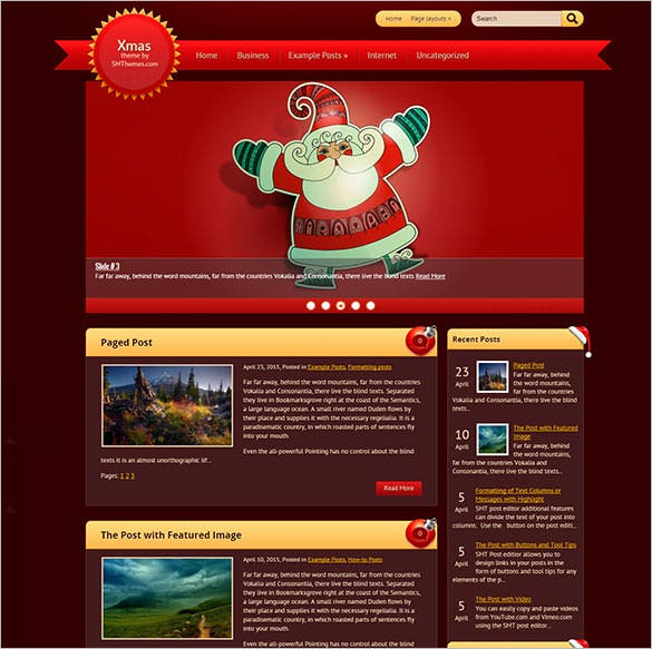 xmas blogger theme template download