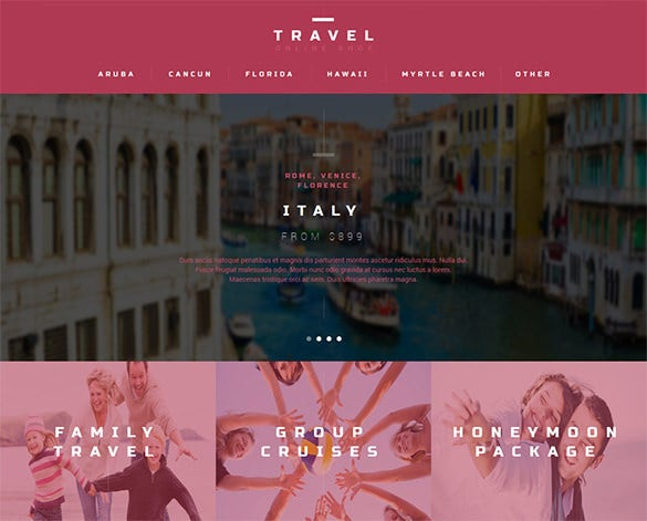 travel agent prestashop theme