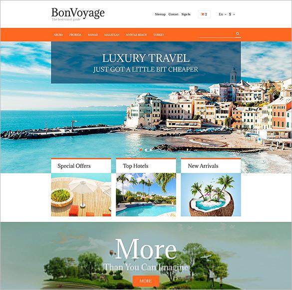 bonvoyage travel prestashop theme