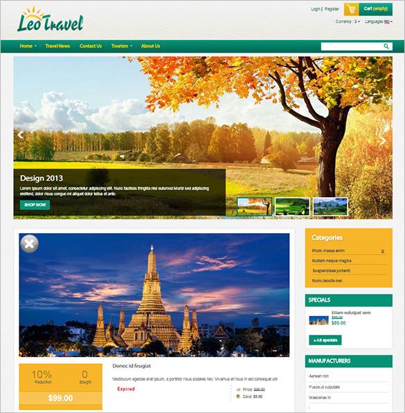 excellent travel prestashop theme