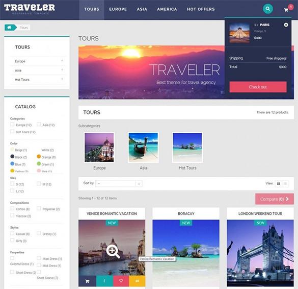 traveller prestashop theme