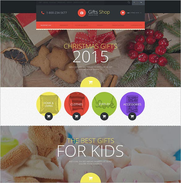 christmas gifts store template for opencart download