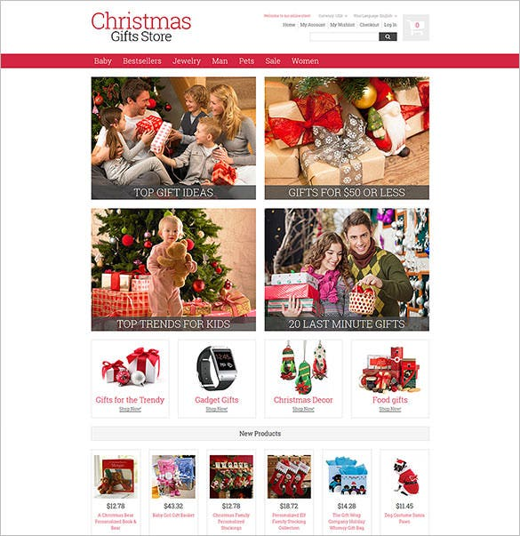 download christmas gifts magento theme template
