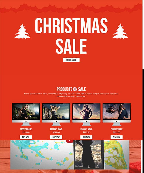 christmas sale muse template ecommerce design