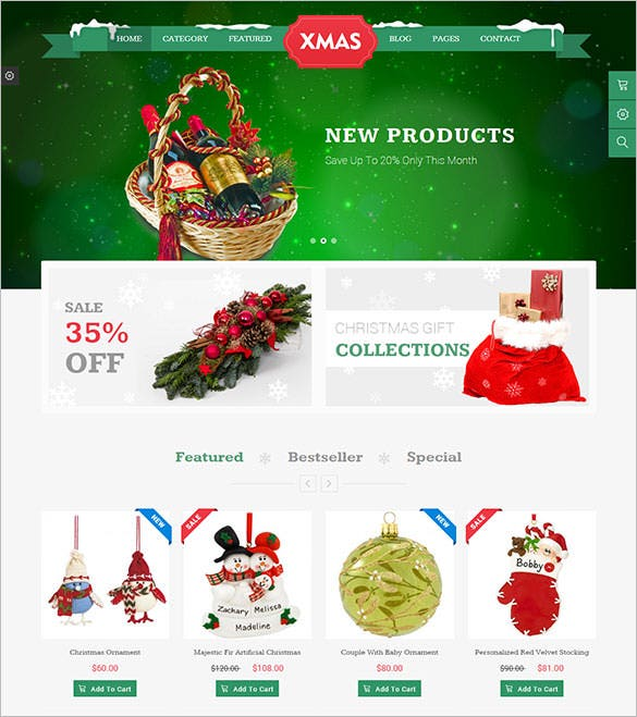 jms xmas e commere template download