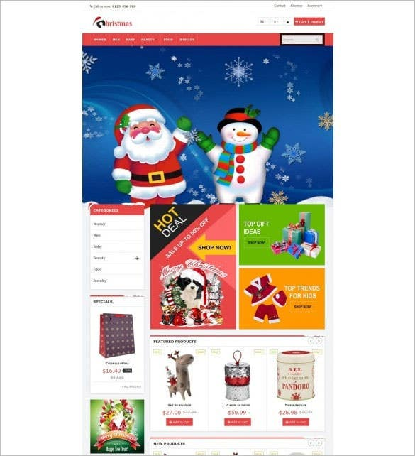 vp christmas responsive e commerce template