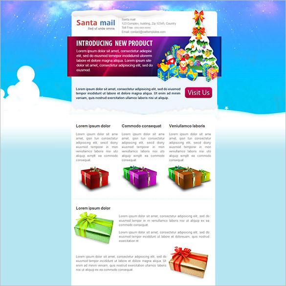 santamail e commercenewsletter email template