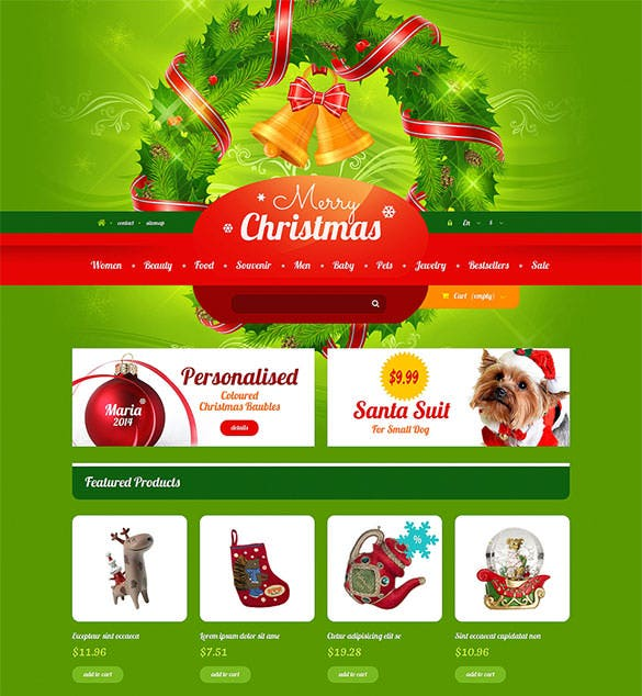 download christmas gift shop prestashop theme template