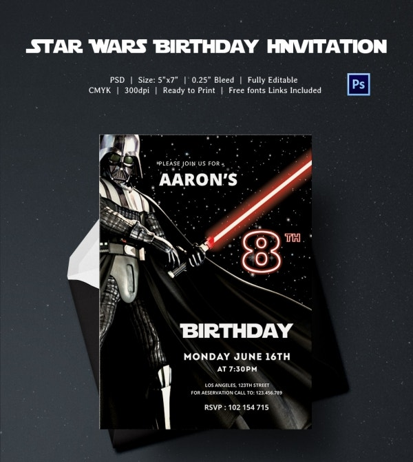 Starwars Birthday Invitations - Free Custom Invitation Template Design | Verrado Drift