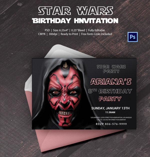 Most Awaited Star Wars Birthday Invitation