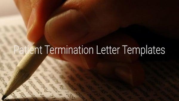 patient termination letter templates