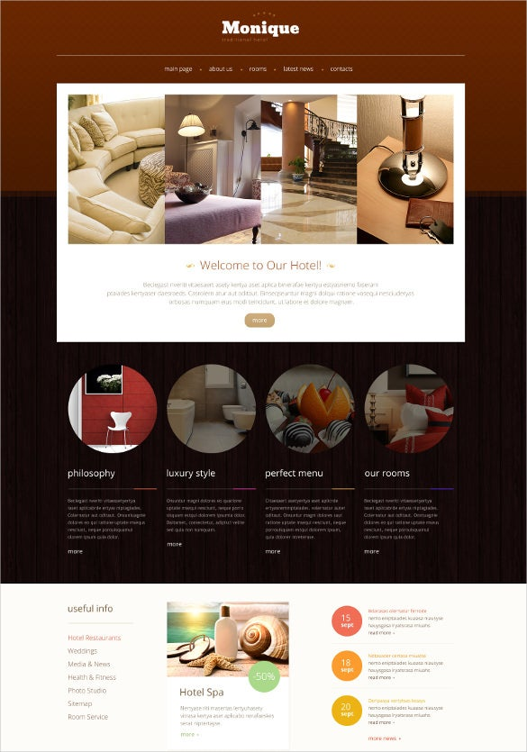 hotels responsive website template2