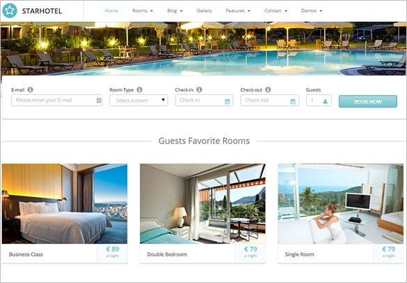 Download Free Hotel Website Template Freakify Com: 24+ Hotel Bootstrap Themes & Templates