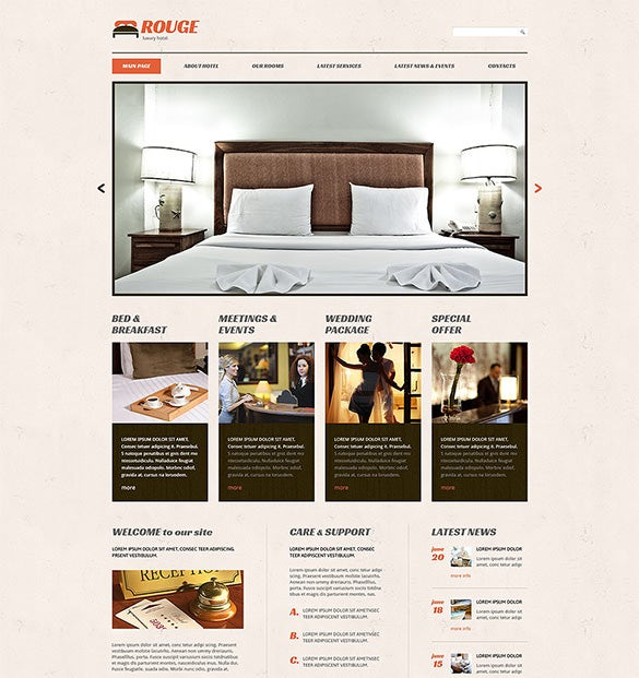 hotels responsive wordpress bootstrap theme