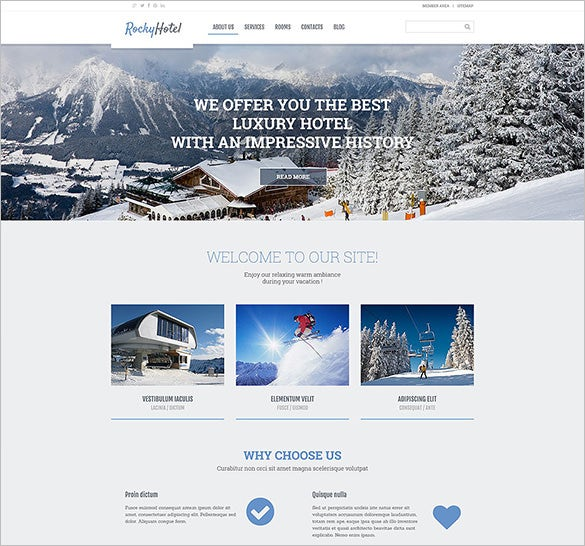 rocky hotel wordpress bootstrap theme