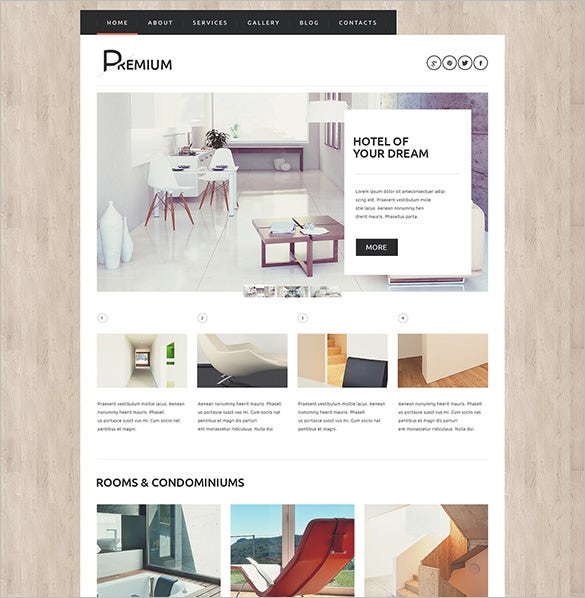 hotels booking agency bootstrap theme