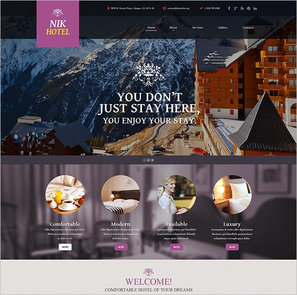 Hotels Website Bootstrap Template