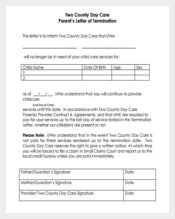 Download Two Day Care Parent's Letter of Termination