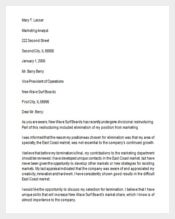 Response to Job Termination Letter Template