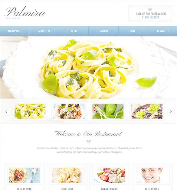 simple restaurant psd theme