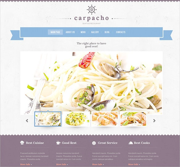seafood restaurant psd template
