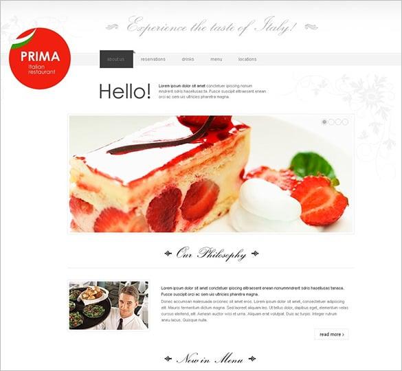 italian restaurant psd template