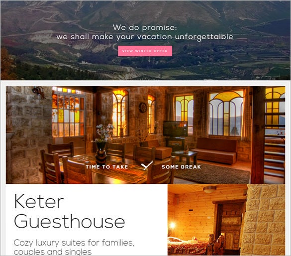small hotel guesthouse php template