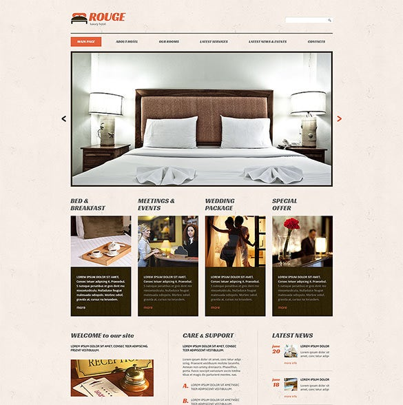 hotels responsive wordpress php theme