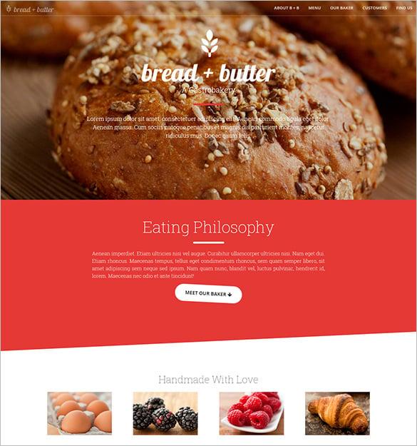 restaurant bootstrap psd template