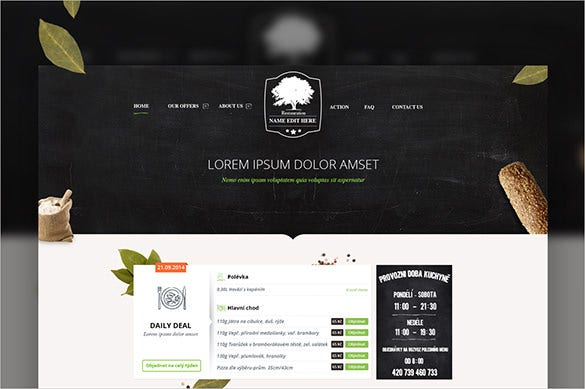 restaurant psd theme