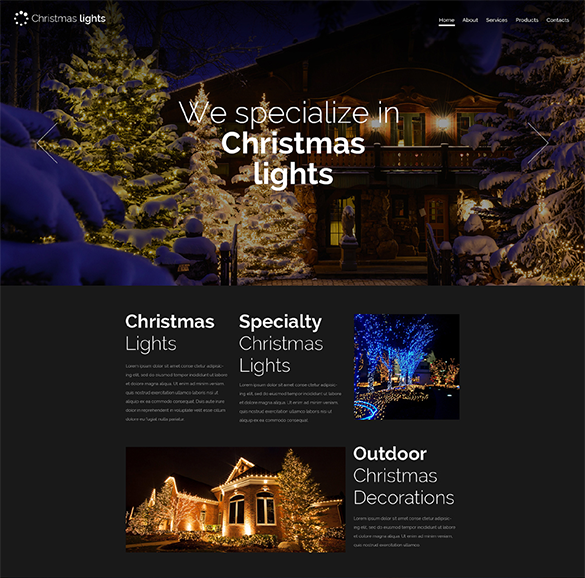 christmas responsive website template theme download