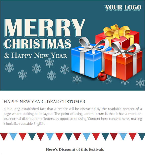 christmas holiday responsive theme template