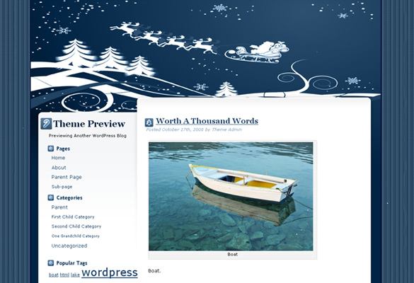christmas new wordpress theme template download