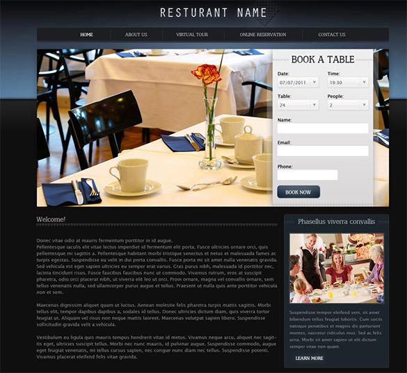 premium restaurant psd template