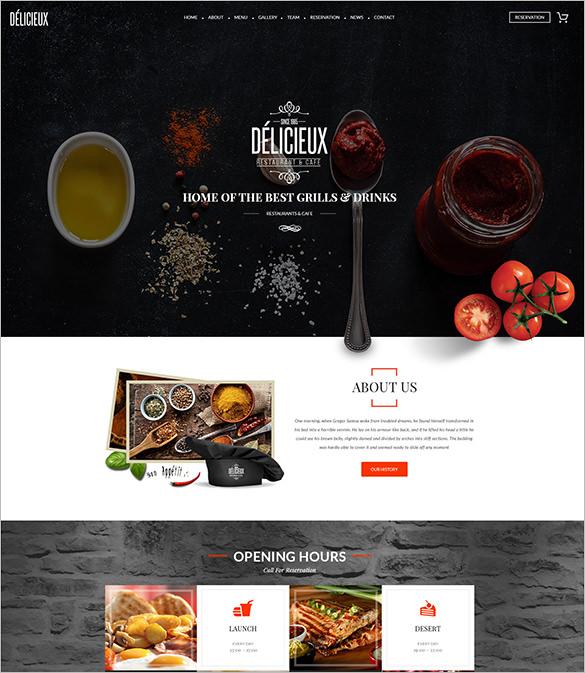 premium restaurant psd theme