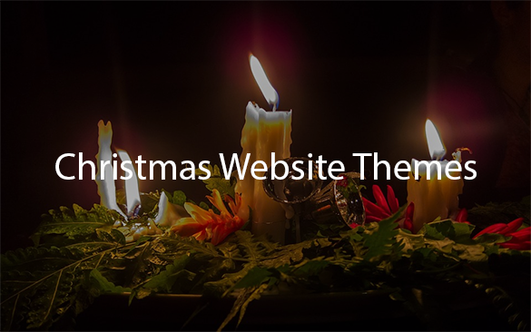 christmas website themes