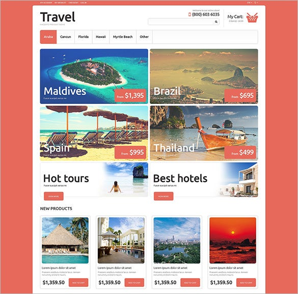 travel agency hotels magento theme