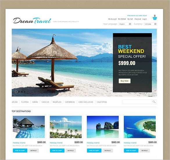 dream hotel magento travel theme