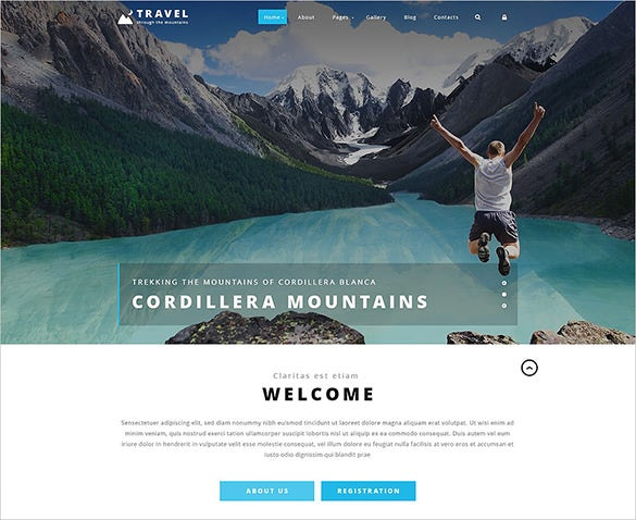 beautiful travel psd theme