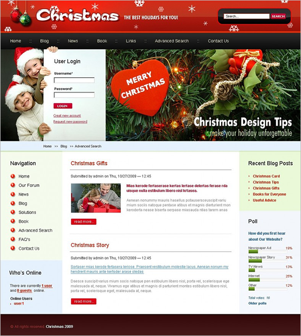 christmas drupal website theme