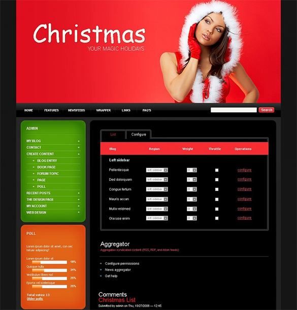 christmas drupal website theme template