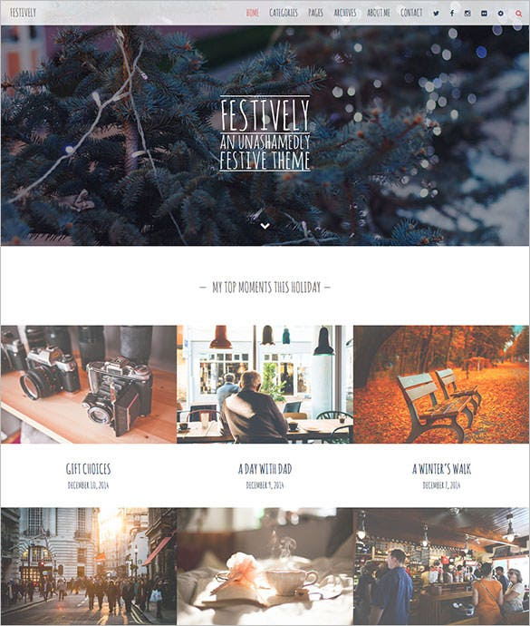 christmas festival wordpress bolg website template
