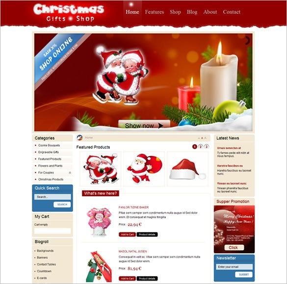 merry christmas joomla website template