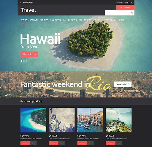 pretty travel psd theme