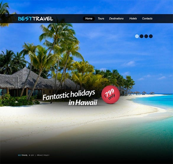 fantastic travel agency psd template